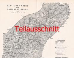 046-4 Karte Samnaungruppe Alpenverein Beilage Zeitschrift 1914 !!! - Mapas Geográficas