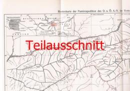 048-3 Karte Expedition Pamir Alpenverein Beilage Zeitschrift 1914 !!! - Mapas Geográficas