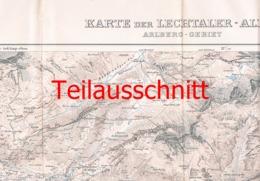 049 Karte Lechtaler Arlberg Alpen Alpenverein Beilage Zeitschrift 1913 !!! - Mapas Geográficas