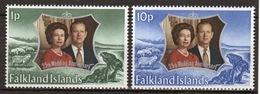 Falkland Islands 1972 Set Of Stamps To Celebrate Royal Silver Wedding. - Falkland Islands