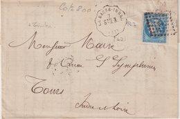 """FRANCE : N° 46 . OBL CONV STAT . """" LA BASSE INDRE """" . (42) . StN. N . 1871 . - Postmark Collection (Covers)"""