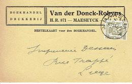 PK Publicitaire MAASEIK 1947 - VAN DER DONCK - ROBYNS - Drukkerij - Boekhandel - Maaseik