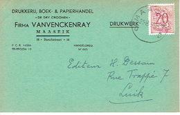 """PK Publicitaire MAESEICK 1952 - Firma VANVENCKENRAY """"DE DRY CRONEN"""" - Drukkerij, Boek- & Papierhandel Te MAASEIK - Maaseik"""