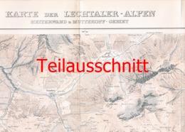 051-2 Karte Lechtaler Alpen Heiterwand Alpenverein Beilage Zeitschrift 1912 !!! - Mapas Geográficas