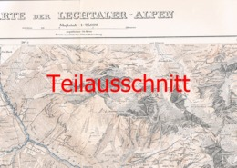 052 Karte Lechtaler Alpen Alpenverein Beilage Zeitschrift 1911 !!! - Mapas Geográficas