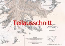 053-3 Karte Jamtalhütte Alpenverein Beilage Zeitschrift 1909 !!! - Mapas Geográficas