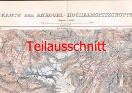 054-3 Karte Ankogel Hochalmspitze Alpenverein Beilage Zeitschrift 1909 !!! - Mapas Geográficas