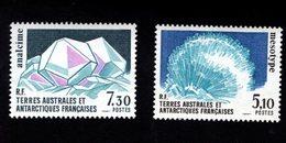 762541700 1989 SCOTT 146 147 POSTFRIS  MINT NEVER HINGED EINWANDFREI  (XX) MINERALS - MESOTYPE - ANALCIME - Terres Australes Et Antarctiques Françaises (TAAF)