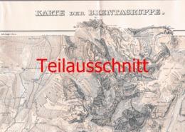 056-3 Karte Brentagruppe Alpenverein Beilage Zeitschrift 1908 !!! - Geographical Maps