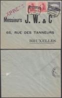 Belgique - COB 145+168x2 Sur Lettre Express Meulebeke 1921 Vers Bruxelles (DD) DC3015 - 1919-1920 Trench Helmet