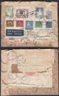 Belgique-1951 Lettre Recommandé Par Avion De Anvers Vers Katovice République Tchèque Réparation Et Retour TB (DD) DC3018 - Covers & Documents