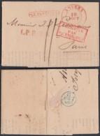 """Belgique - 1834 De Anvers Vers Paris """" Par Estafette L.P.B 2R  (DD) DC3025 - 1830-1849 (Belgique Indépendante)"""