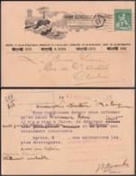 """Belgique - COB 110 Sur Carte Pub Anvers """"Phare"""" 1914 (DD)`DC3051 - Advertising"""