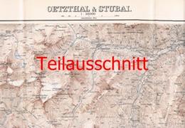 070-2 Karte Ötztal Stubai Alpenverein Beilage Zeitschrift 1896 !!! - Geographical Maps