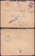 """Belgique - COB 140 Sur Lettre Obl. Poste Militaire 4 Vers Aardenburg 19/06/17 """" Censure Nº5"""" (DD)DC3060 - WW I"""