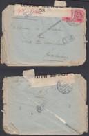 """Belgique - COB 138x2 Sur Lettre Obl. Poste Militaire 4 Vers Aardenburg 19/06/17 """" Censure Nº53 """" (DD)DC3061 - WW I"""