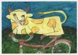 Cpm ERGON - La Vache Et La Bicyclette - Vélo - Cyclisme - Illustrateurs - Illustrateur - Ergon
