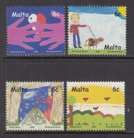 2000 Malta  Children Stamp Design Complete Set Of 4 MNH - Malta