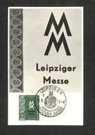 ALLEMAGNE - DDR - Carte Maximum 1957 - LEIPZIG C1 - Leipziger Messe - Maximum Cards