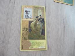 Chromo Litho Gaufré Lu Lefevre Utile Jane Mading - Lu