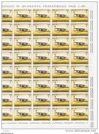 SAN  MARINO:  1962  STORIA  DELL' AVIAZIONE  -  £. 1  BRUNO  E  GIALLO  FGL. 40  N. -  SASS. 587 - Blocks & Sheetlets