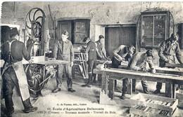 (23) AHUN (Creuse)   ECOLE D'AGRICULTURE DEFUMADE  Travaux Manuels  Travail Du Bois - France