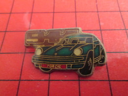 710d Pins Pin's  / Rare & Belle Qualité / THEME AUTOMOBILE : PORSCHE 911 BLEU VERT FONCE - Porsche