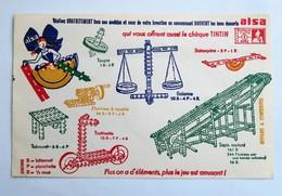 """Buvard """" Les Bons Desserts ALSA"""" Vous Offrent Jeux Et Chèque TINTIN - Food"""