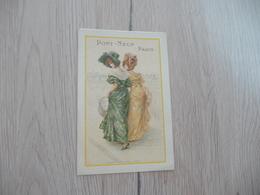 Calendrier Illustrée Art Nouveau Femmes Modes Pont Neuf Paris 1901 - Calendars