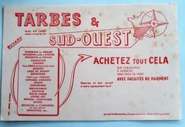 """Buvard """" TARBES & SUD-OUEST """" , 66-68, Rue Larrey , BORDEAUX : Achetez Tout Cela - Blotters"""