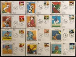 France FDC - Premier Jour - Lot De 12 FDC - Thématique Série La Lettre - 1997 Et 1998 - FDC