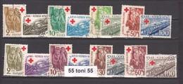 1946 -1947 RAILWAY - Red Cross I+II 8v - MNH BULGARIA /Bulgarie - Bulgaria