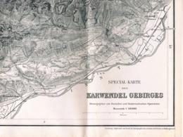 076 Spezialkarte Karwendel Gebirge Alpenverein Beilage Zeitschrift 1888 !!! - Mapas Geográficas