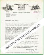 Lettre Illustrée De 1948 - BRUXELLES - BERGERAT-DUTRY - Importateurs De Tracteurs Et Machines Agricoles - Non Classificati