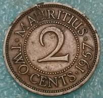 Mauritius 2 Cents, 1957 -4514 - Mauricio
