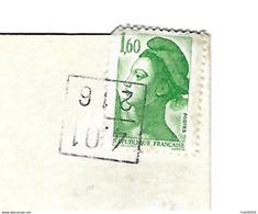 RARE Cachet Carré Postes Comptables Annulation - Ain 01 - 4.01 - 216 - Marcophilie (Lettres)