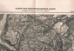 094 Karte Berchtesgadener Alpen Alpenverein Beilage Zeitschrift 1885 !!! - Mapas Geográficas