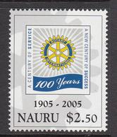 2005 Nauru Rotary International  Complete Set Of 1 MNH - Nauru