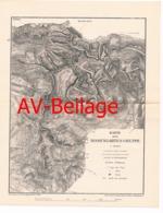 097 Karte Rosengarten Dolomiten Alpenverein Beilage Zeitschrift 1884 !!! - Mapas Geográficas