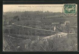 CPA Rabodanges, Vue Du Pont Et Du Village De Ste-Croix-sur-Orne - France