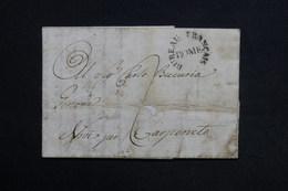 """FRANCE - Oblitération """" Bureau Français Rome """" Sur Lettre En 1806 , à Voir - L 28872 - 1792-1815: Conquered Departments"""