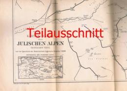 099 Karte Julische Alpen Alpenverein Beilage Zeitschrift 1883 !!! - Geographical Maps