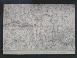 Topografische En Militaire Kaart STAFKAART Charleroi Chatelet La Louviere Le Roeulx Binche Morlanwelz Seneffe Houdaing - Carte Topografiche