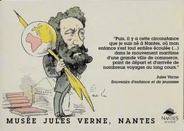 Carte Postale Publicitaire Du Musée Jules Verne à Nantes - Nantes