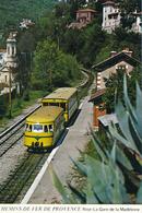 Nice (06) Chemins De Fer De Provence - La Gare De La Madeleine - Autorail SY + Remorque Billard - Gares - Avec Trains