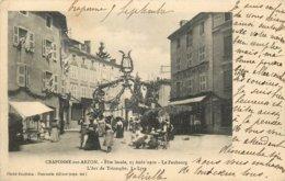 CRAPONNE SUR ARZON FETE LOCALE LE FAUBOURG ARC DE TRIOMPHE LA LYRE - Craponne Sur Arzon