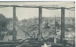 Bruxelles-Exposition - L'Incendie Des 14-15 Août 1910 - Les Ruines Du Palais De L'Alimentation Et Front De L'Avenue - Expositions Universelles