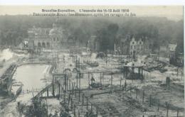 Bruxelles-Exposition - L'Incendie Des 14-15 Août 1910 - Panorama De Bruxelles Kermesse Après Les Ravages Du Feu - Expositions Universelles