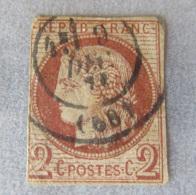 France / Colonies Françaises - Emissions Générales - Timbre Cérès 2c YT N°15 - Oblitéré En Décembre 1871 - Cérès