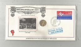 Enveloppe Officielle Monnaie De Paris, Premier Jour, Bicentenaire De La Révolution ,4 Scans,frais Fr : 1.95 E - Autres